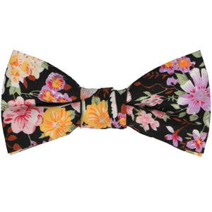 Boys' black floral bow tie