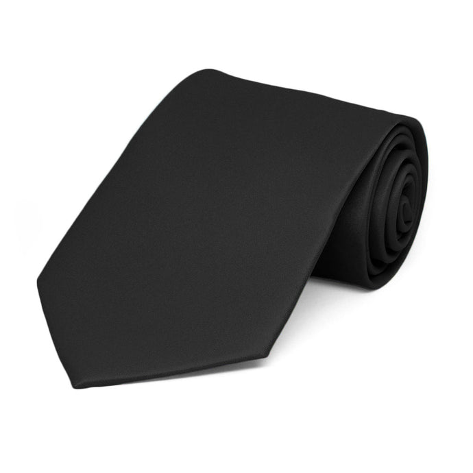 Boys' Black Solid Color Necktie
