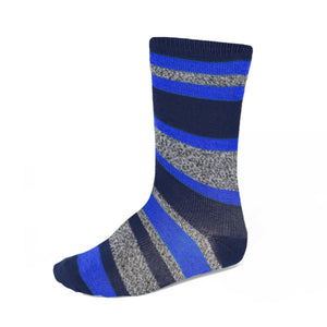 Bloys' blue and gray striped socks