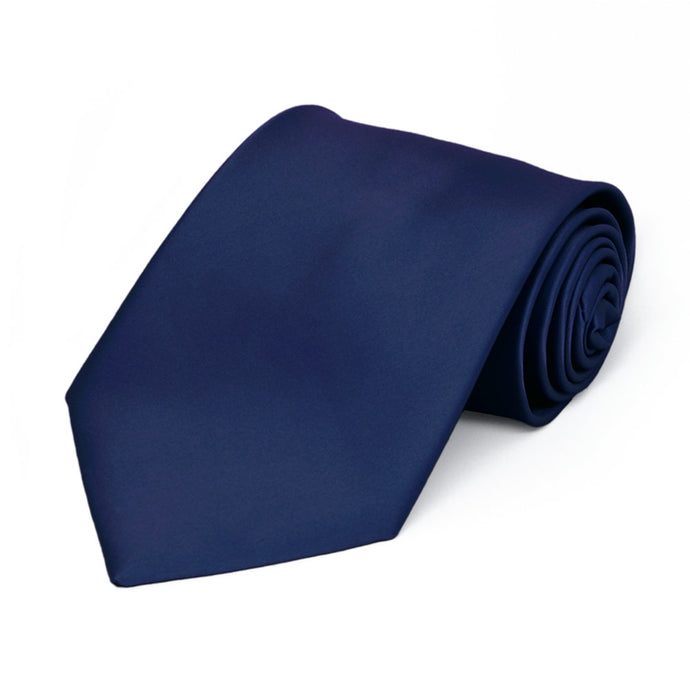 Boys' Blue Velvet Premium Solid Color Tie