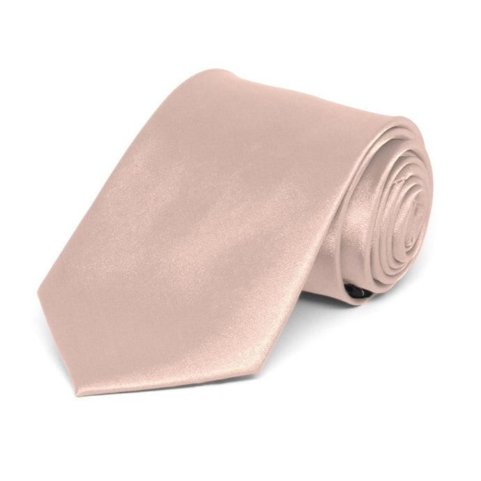Boys' Blush Pink Solid Color Necktie