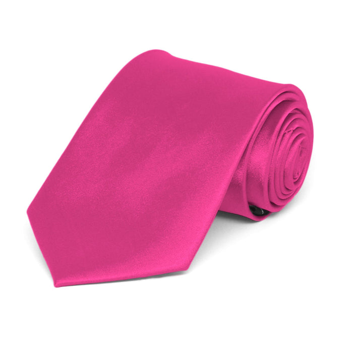 Boys' Bright Fuchsia Solid Color Necktie