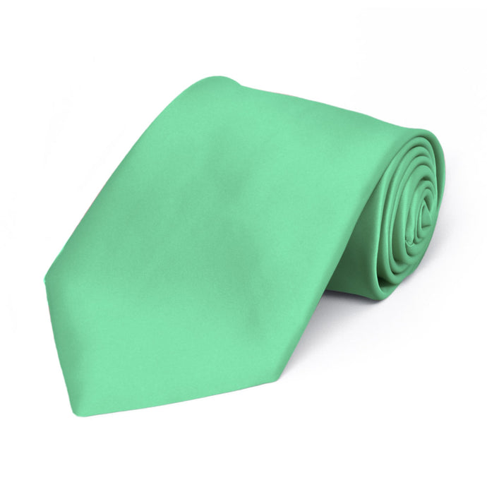 Boys' Bright Mint Premium Solid Color Tie