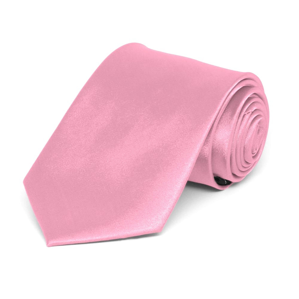 Boys' Bright Pink Solid Color Necktie