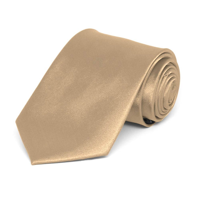 Boys' Bronze Solid Color Necktie