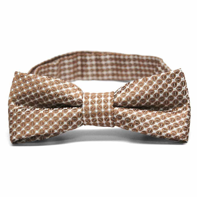 Boys' Light Brown Henry Grain Pattern Bow Tie