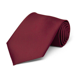 Boys' Burgundy Solid Color Necktie