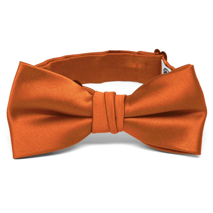 Boys' Burnt Orange Premium Bow Tie