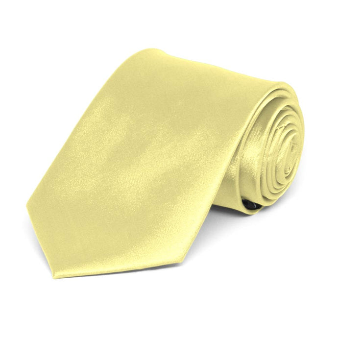 Boys' Butter Yellow Solid Color Necktie