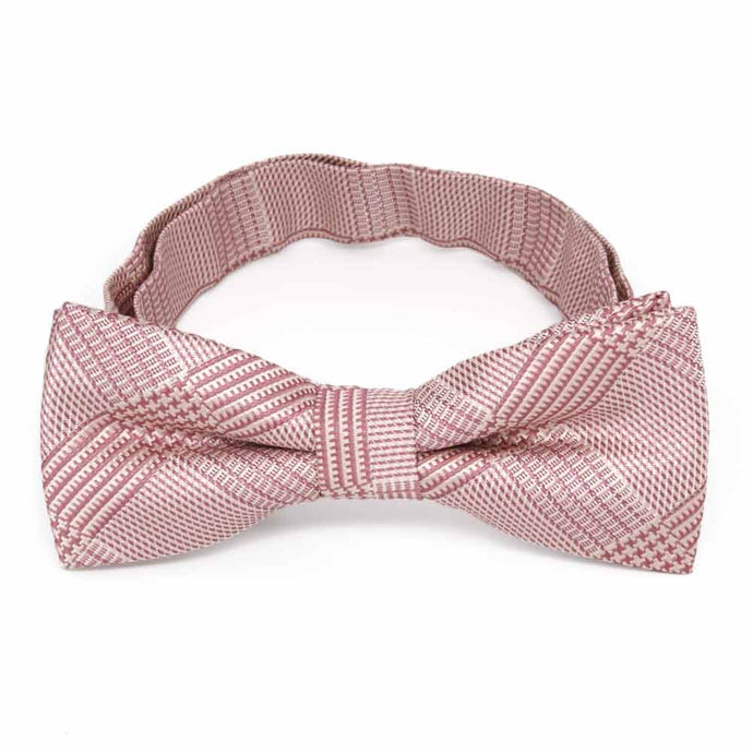 Boys' Cameo Pink Michael Glen Plaid Bow Tie
