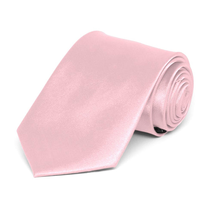 Boys' Carnation Pink Solid Color Necktie