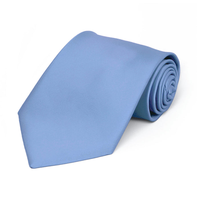 Boys' Cornflower Premium Solid Color Tie