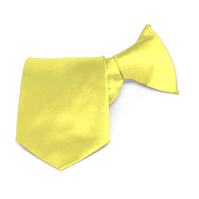 Boys' Daffodil Yellow Solid Color Clip-On Tie