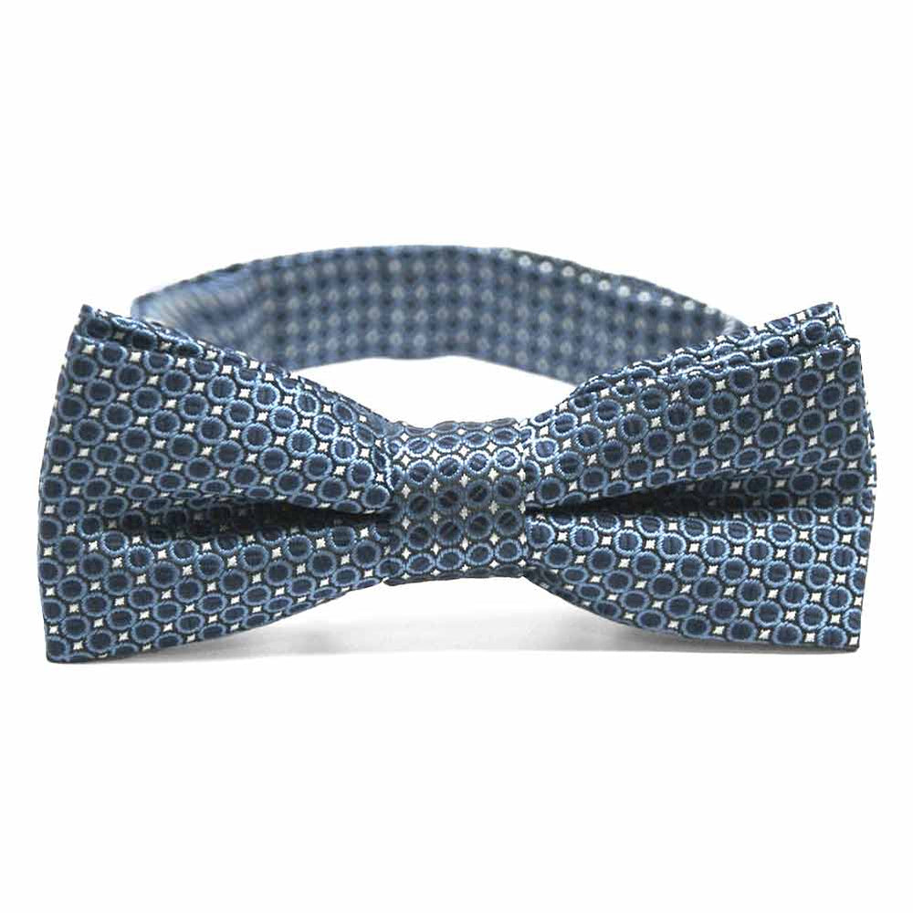 Boys' Dark Blue Henry Grain Pattern Bow Tie
