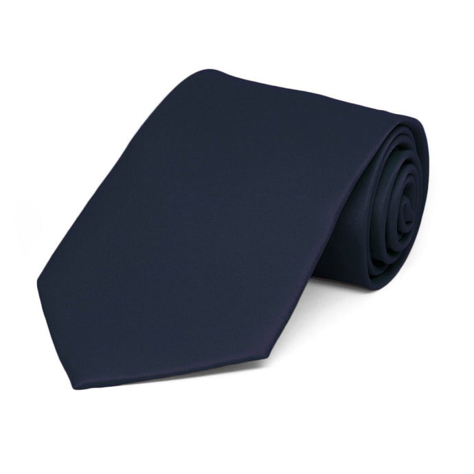 Boys' Dark Navy Blue Solid Color Necktie