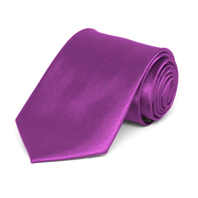 Boys' Dark Orchid Solid Color Necktie
