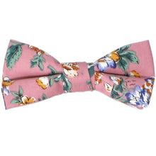 Load image into Gallery viewer, Boys deep mauve floral bow tie