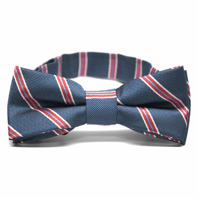 Boys' Denim Blue Melvin Stripe Bow Tie