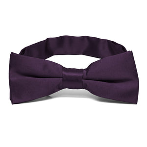 Boys' Eggplant Purple Bow Tie