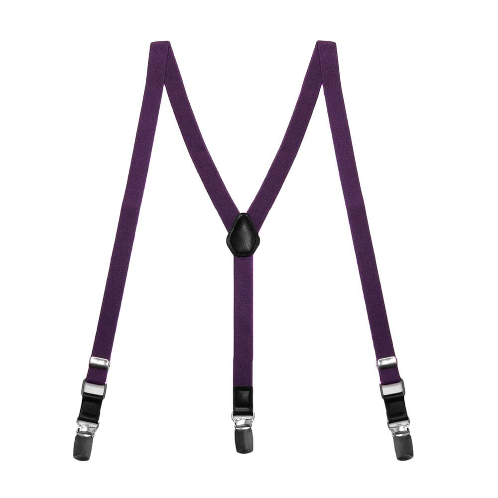 Boys' Eggplant Purple Skinny Suspenders