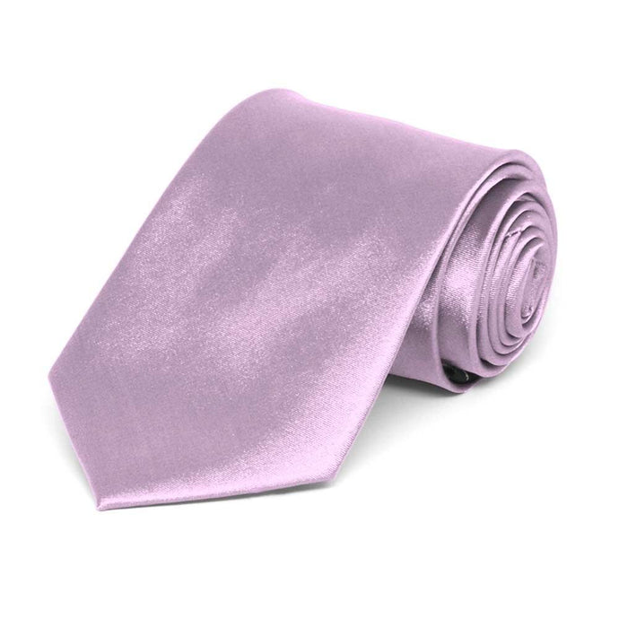 Boys' English Lavender Solid Color Necktie