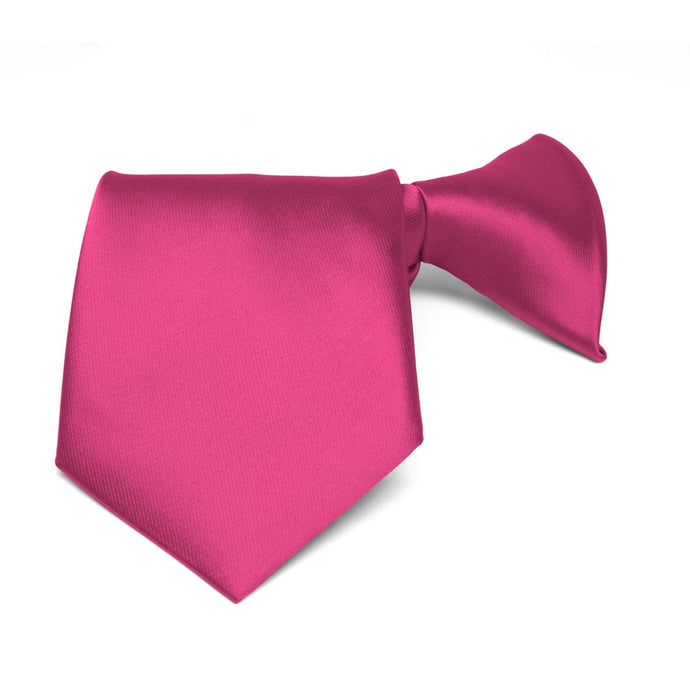 Boys' Fuchsia Solid Color Clip-On Tie
