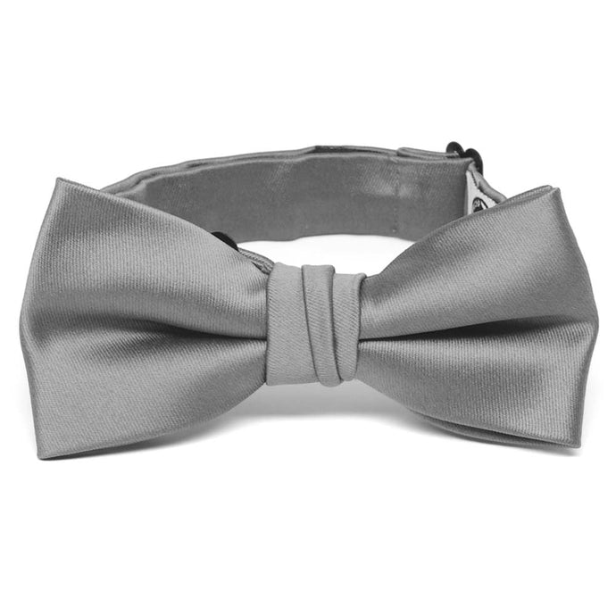 Boys' Gray Premium Bow Tie