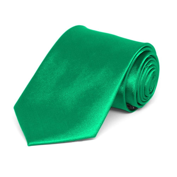 Boys' Green Solid Color Necktie