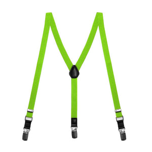 Boys' Hot Lime Green Skinny Suspenders