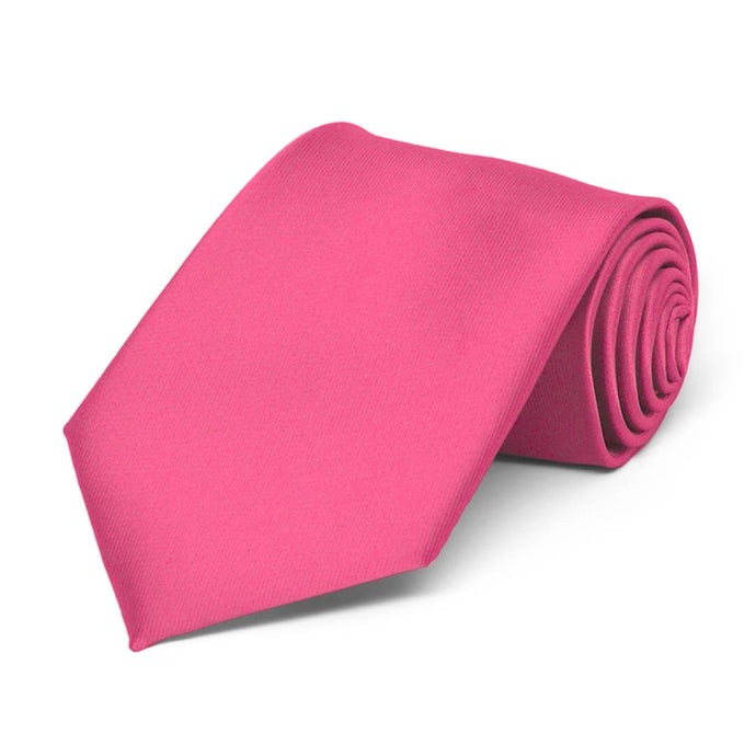 Boys' Hot Pink Solid Color Necktie