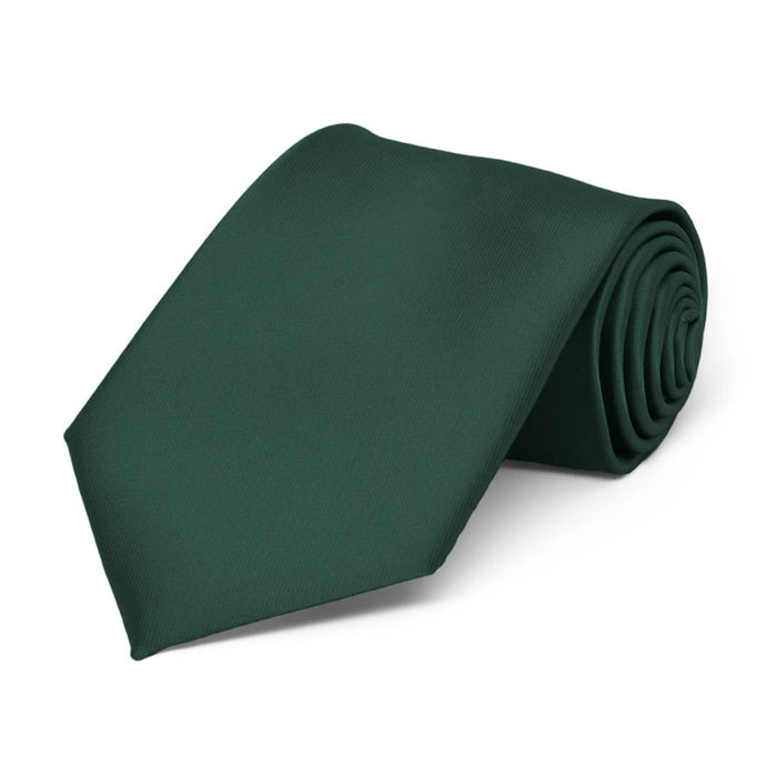 Boys' Hunter Green Solid Color Necktie