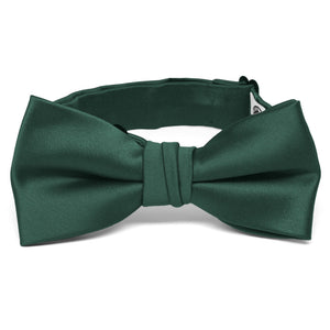 Boys' Hunter Green Premium Bow Tie
