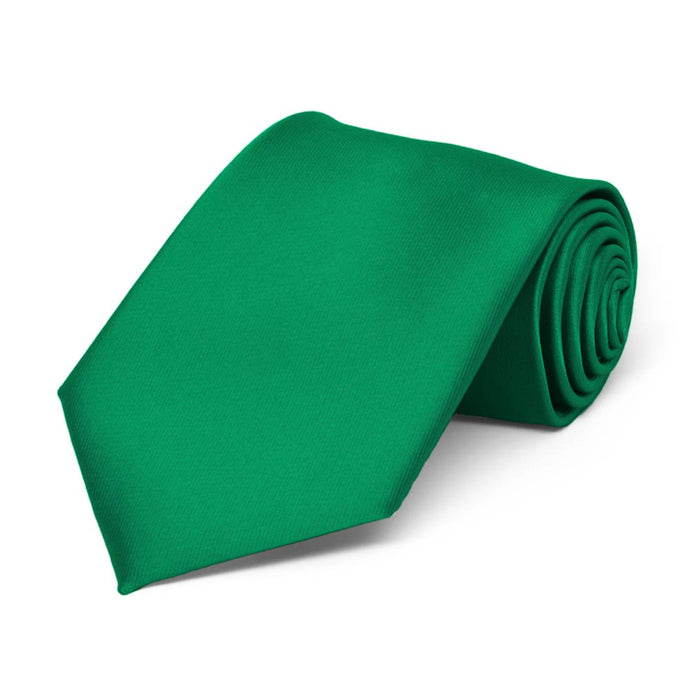 Boys' Kelly Green Solid Color Necktie