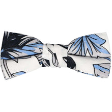 Load image into Gallery viewer, Boys blue, gray and white Hawaiian pattern bow tie