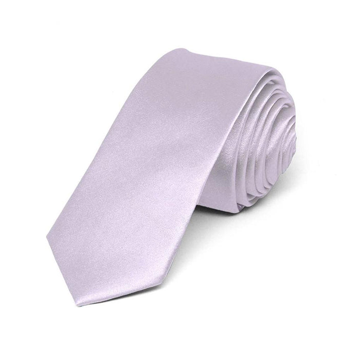 Boys' Lilac Ice Skinny Solid Color Necktie, 2