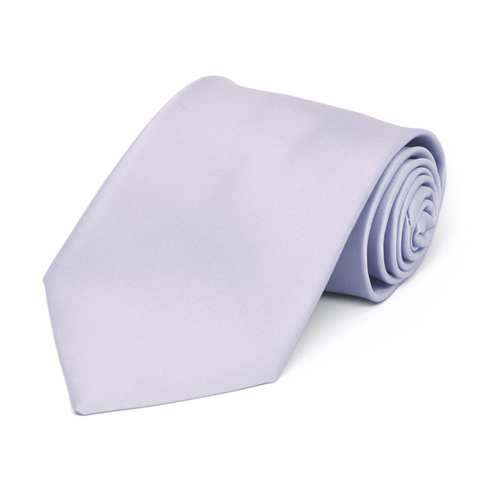 Boys' Lilac Premium Solid Color Tie