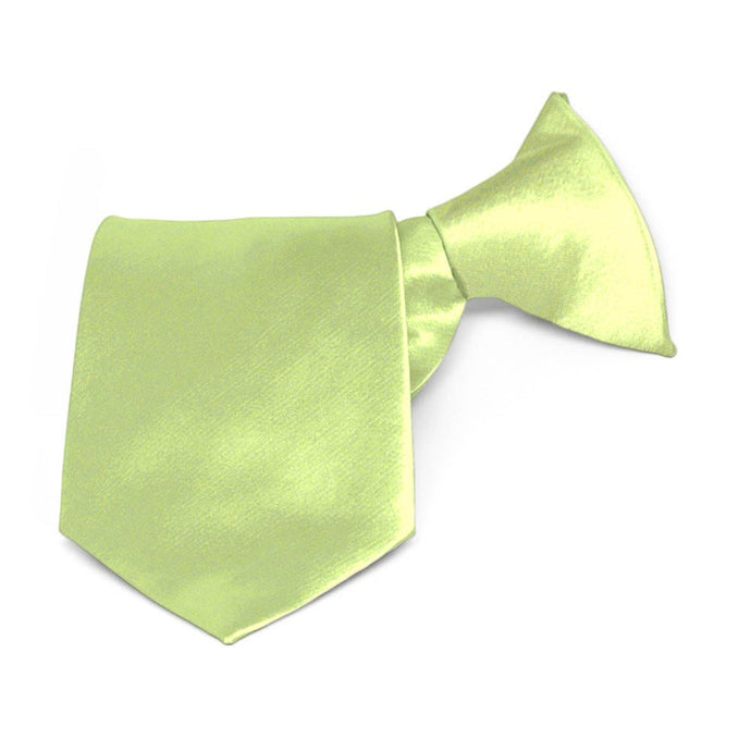 Boys' Lime Green Solid Color Clip-On Tie