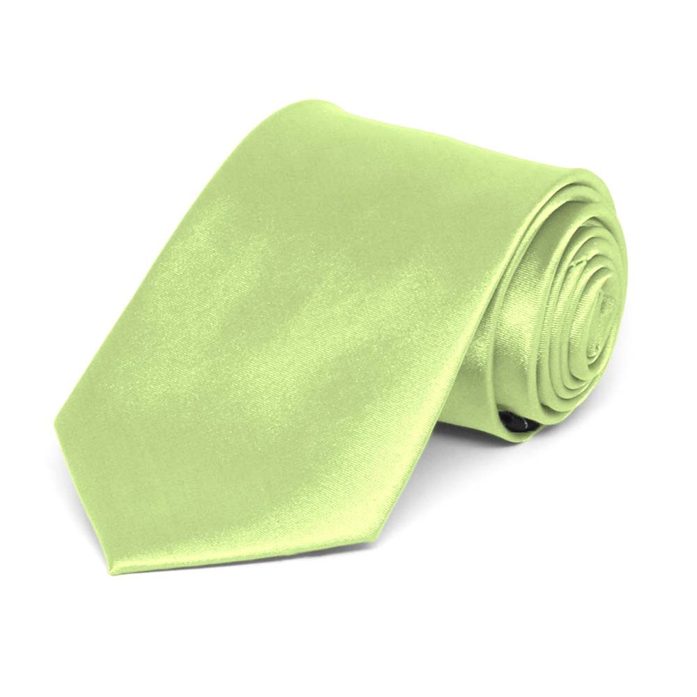 Boys' Lime Green Solid Color Necktie