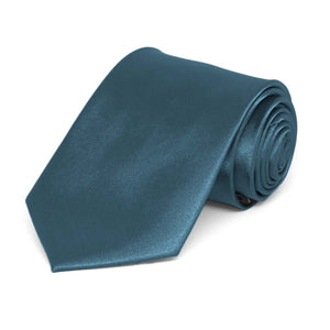 Boys' Loch Blue Solid Color Necktie