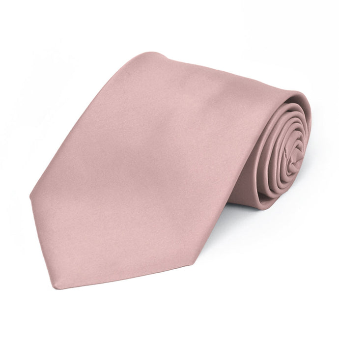 Boys' Mauve Premium Solid Color Tie