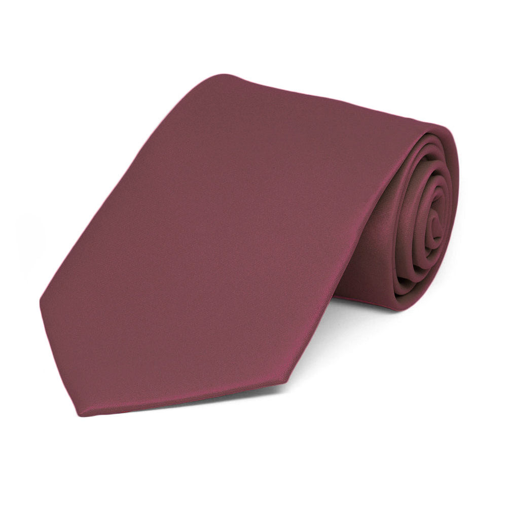 Boys' Merlot Solid Color Necktie