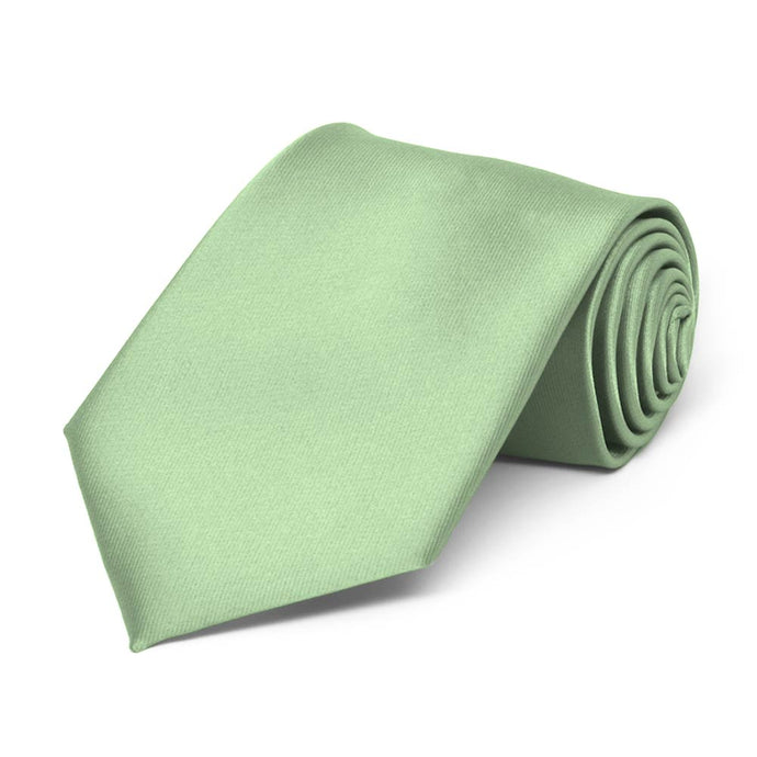 Boys' Mint Green Solid Color Necktie