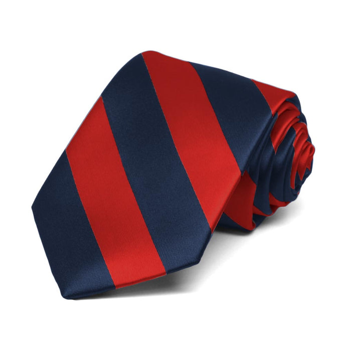 Boys' Red and Navy Blue Striped Tie