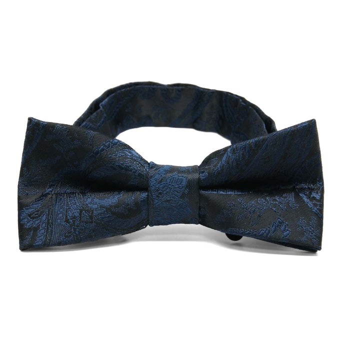 Boys' Navy Blue Clara Paisley Bow Tie