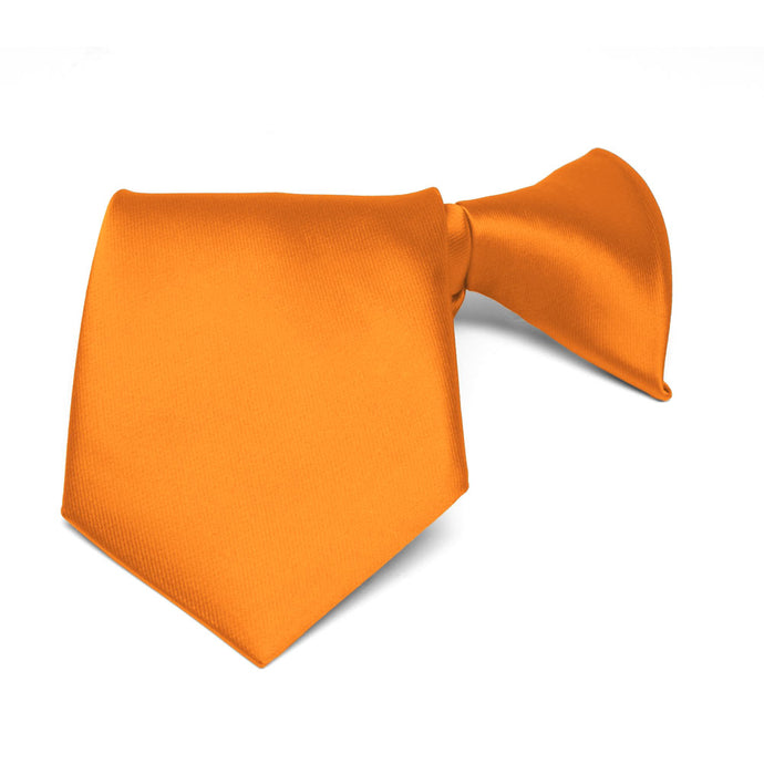 Boys' Orange Solid Color Clip-On Tie