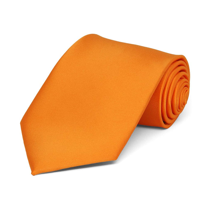 Boys' Orange Solid Color Necktie