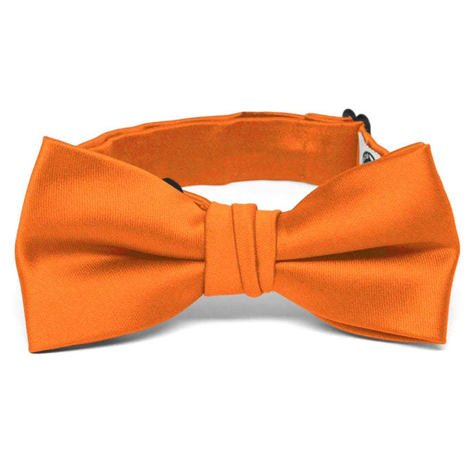 Boys' Orange Premium Bow Tie