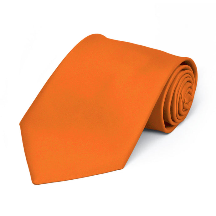 Boys' Orange Premium Solid Color Tie