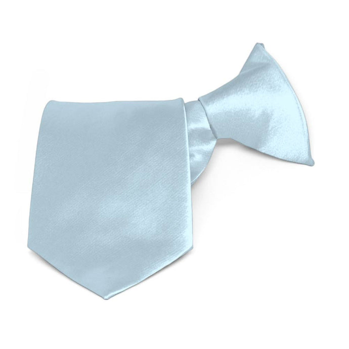 Boys' Pale Blue Solid Color Clip-On Tie