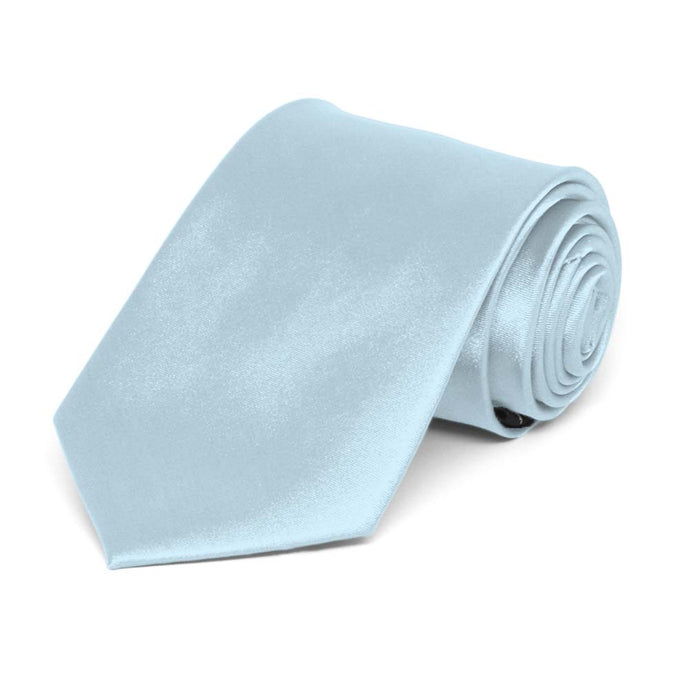 Boys' Pale Blue Solid Color Necktie
